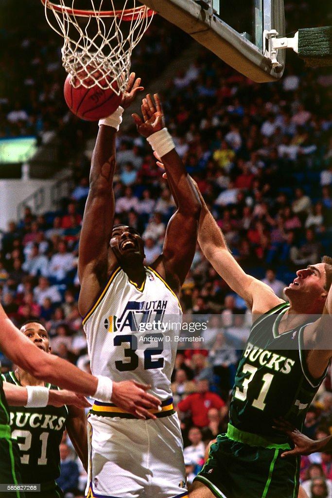 Karl Malone Toyota U003eu003e Milwaukee Bucks V Utah Jazz Pictures | Getty Images