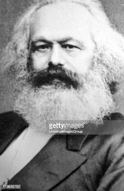 Karl Marx Father of modern Communism German political social and economic theorist From a photograph