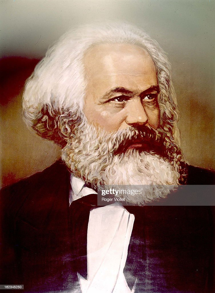 Karl Marx (1818-1893), German social theorist and revolutionary, circa 1870. Private collection.