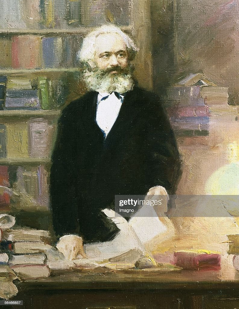 Karl Marx in his studio. Ar. 1875. (Photo by Imagno/Getty Images) [Karl Marx in seinem Arbeitszimmer. Um 1875.]