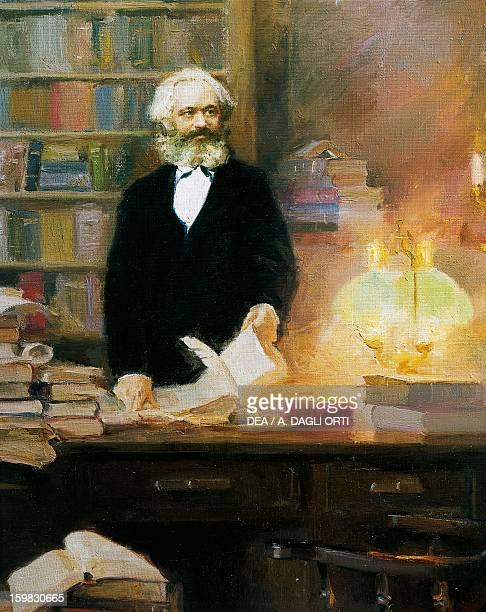 Karl Marx in his studio painting by Zhang Wun Treviri KarlMarxHaus