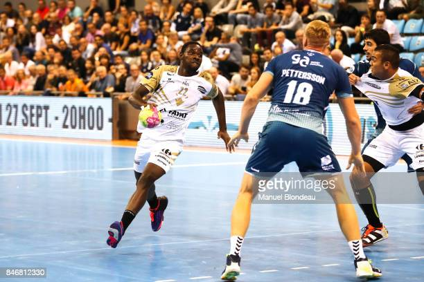 Karl Olivier Konan of Aix during Lidl Star Ligue match between Fenix Toulouse and Pays D'aix Universite Club on September 13 2017 in Toulouse France
