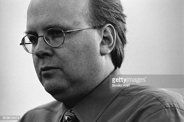 Karl Rove Senior Advisor to President George W Bush before a Legislative Strategy Meeting in White House Chief of Staff Andy Card's office