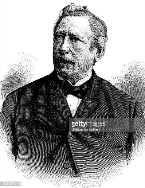 Karl schenk 1823 1895 president of switzerland historical illustration circa 1893