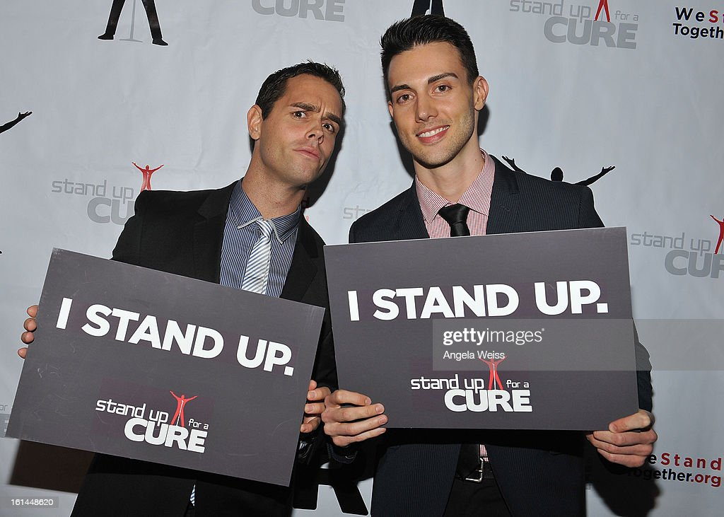 Karl Schmid and Travis Bryant attend the Stand Up For A Cure 2013 Concert Series and Republic Records Grammy Party at The Emerson Theatre on February 10, 2013 in Hollywood, California.
