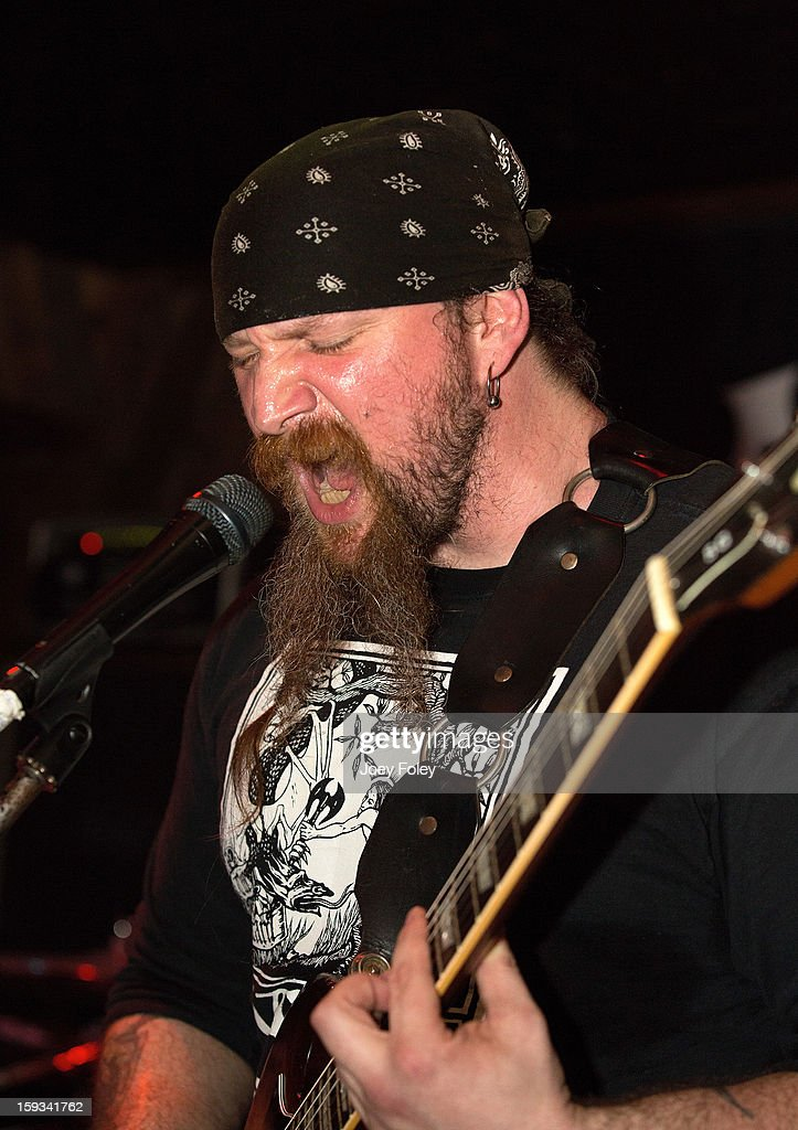 Karl Simon of The Gates Of Slumber performs at Indy's Jukebox on January 11, 2013 in Indianapolis, Indiana.