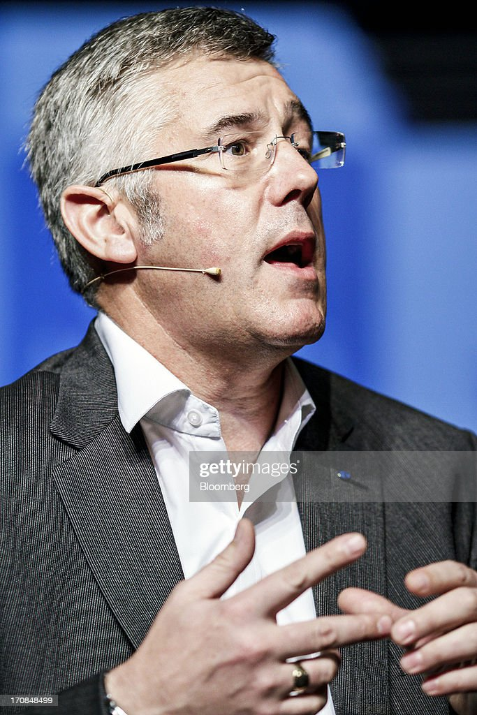 Karl Slym, managing director of Tata Motors Ltd., speaks during a Tata Motors media event in Pune, India, on Wednesday, June 19, 2013. Tata Motors announced the introduction of 8 new models today. Photographer: Dhiraj Singh/Bloomberg via Getty Images