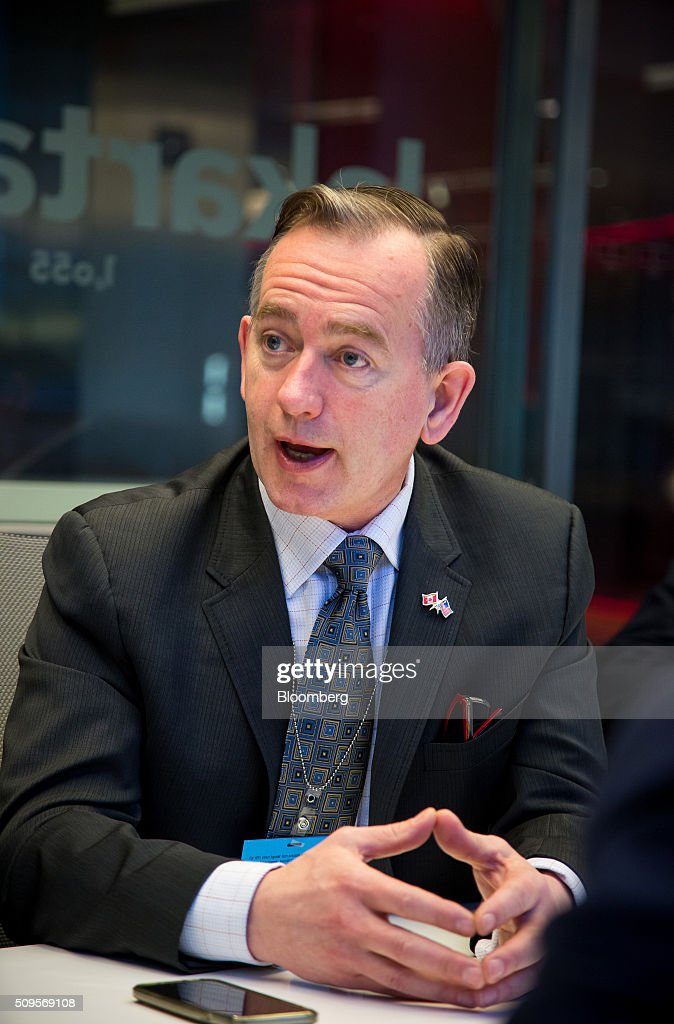 Karl Smith, executive vice president and chief financial officer of Fortis Inc., speaks during an interview in New York, U.S., on Thursday, Feb. 11, 2016. Fortis Inc., Canadas largest utility owner, is confident it can find an investor to take a stake in ITC Holdings Corp. as part of its $6.9 billion takeover of the U.S. transmission line operator. Photographer: Michael Nagle/Bloomberg via Getty Images