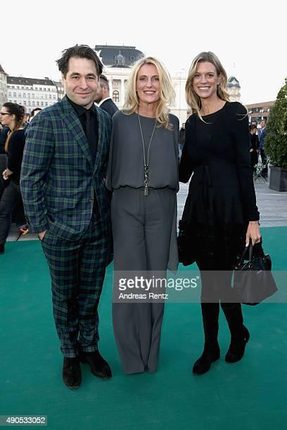 Karl Spoerri Maria Furtwaengler and Nadja Schildknecht attend the 'Das Wetter In Geschlossenen Raeumen' Premiere during the Zurich Film Festival on...