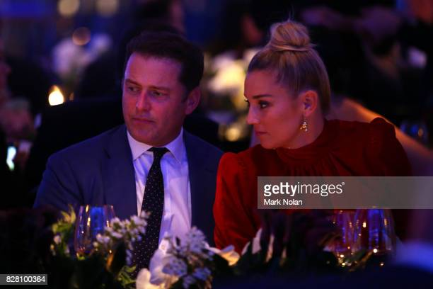 Karl Stefanovic and Jasmine Yarbrough attend the David Jones Spring Summer 2017 Collections Launch at David Jones Elizabeth Street Store on August 9...