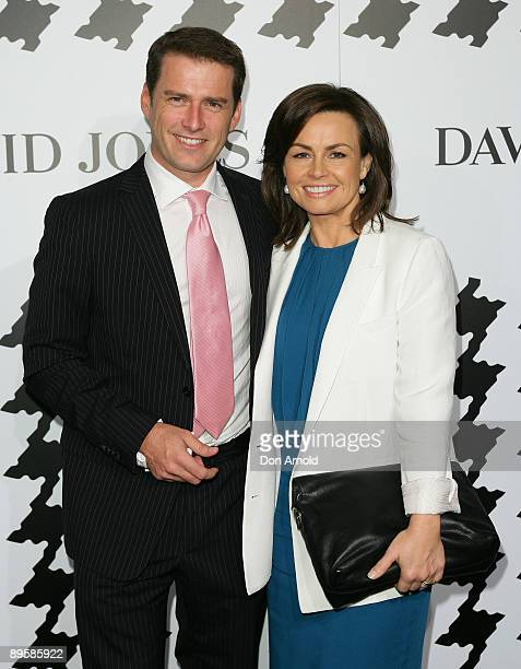 Karl Stefanovic and Lisa Wilkinson arrive at the David Jones Spring/Summer 2009 Collection Launch themed 'A Great Southern Summer 2009' at the...