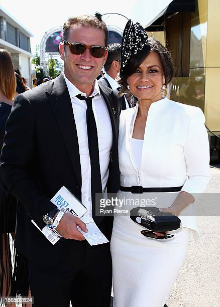 Karl Stefanovic and Lisa Wilkinson arrives on Victoria Derby Day at Flemington Racecourse on November 2 2013 in Melbourne Australia