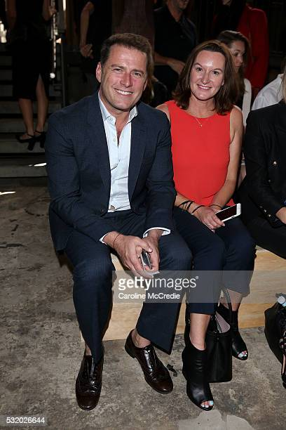 Karl Stefanovic attends the Kitx show at MercedesBenz Fashion Week Resort 17 Collections at Paddington Reservoir on May 18 2016 in Sydney Australia