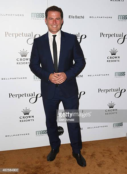 Karl Stefanovic poses during the 'Clarkey For Kids Sports Lunch' at The Ivy on July 24 2014 in Sydney Australia