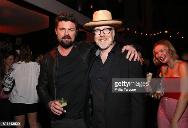 Karl Urban and Adam Savage at Entertainment Weekly's annual ComicCon party in celebration of ComicCon 2017 at Float at Hard Rock Hotel San Diego on...