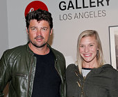 Karl Urban and Katee Sackhoff attend the Billy Zane opening night reception for his debut photo exhibit at Leica Gallery Los Angeles on January 23...