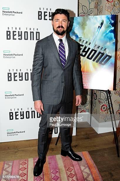 Karl Urban attends the Hewlett Packard Enterprise Presents a New York Special screening of 'Star Trek Beyond' at the Crosby Street Hotel on July 18...