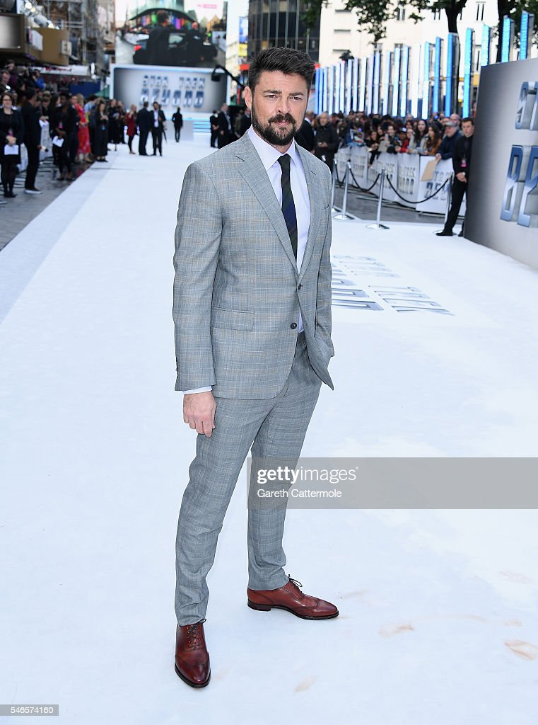 Karl Urban attends the UK Premiere of Paramount Pictures 'Star Trek Beyond' at the Empire Leicester Square on July 12, 2016 in London, England.