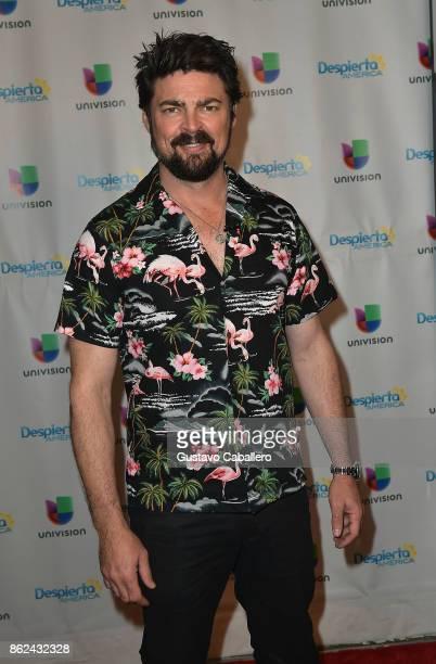 Karl Urban is on the set to promote the movie THOR RAGNAROK on Despierta America morning show at Univision Studios on at Univision Studios on October...