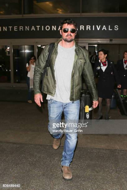 Karl Urban is seen at LAX on August 04 2017 in Los Angeles California