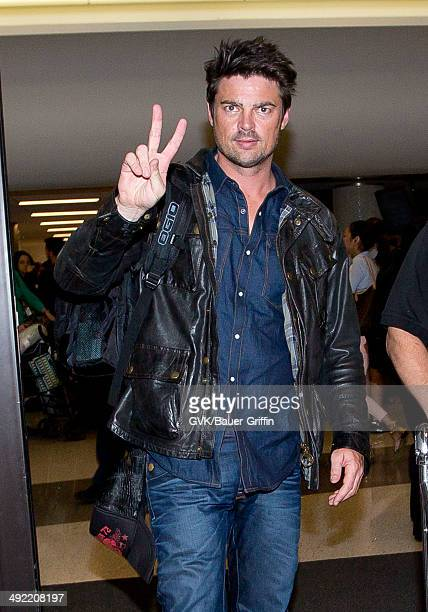 Karl Urban is seen at LAX on May 18 2014 in Los Angeles California