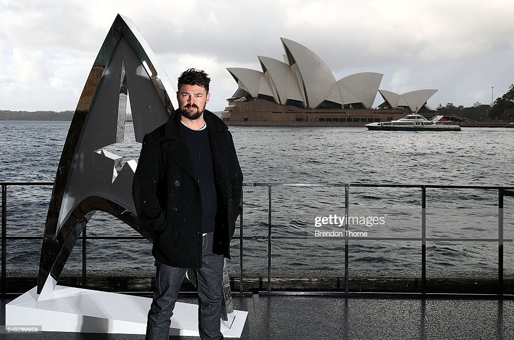 Karl Urban poses during a photo call for Star Trek Beyond on July 7, 2016 in Sydney, Australia.