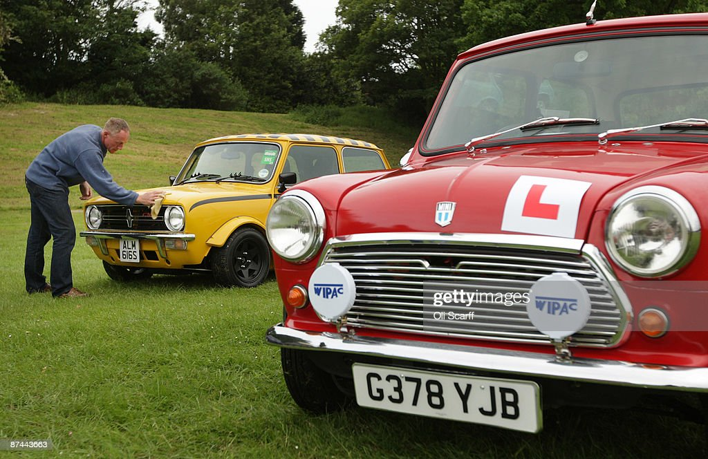 Karl Woodman polishes his Mini in Crystal Palace Park as he prepares to celebrate the 50th anniversary of the car with the annual 'London To Brighton Mini Run' on May 17, 2009 in London, England. The annual run, organized by the London and Surrey Mini Owners Club, is one of the largest single-manufacturer car shows in the world and attracts around 2,500 Minis for the journey to Brighton sea front. To celebrate the 50th anniversary, the first 51 cars to leave London were representatives from each year of production from 1959 to 2009.