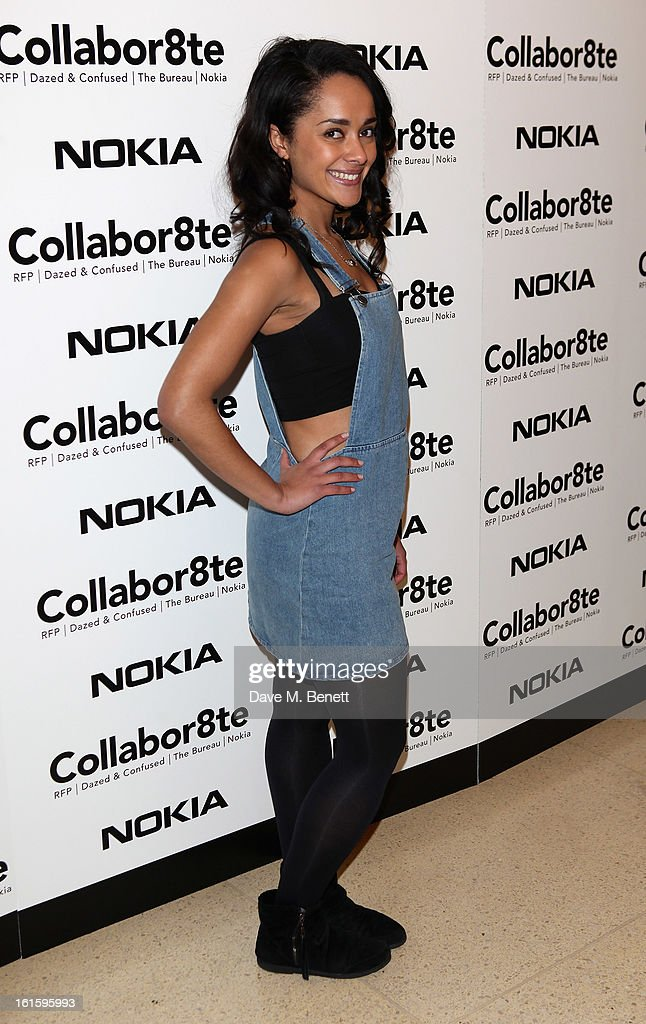 Karla Chrome attends the Collabor8te Connected by NOKIA Premiere at Regent Street Cinema on February 12, 2013 in London, England.