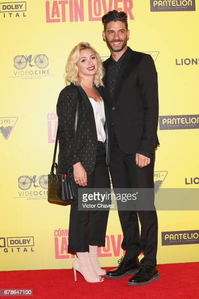 Karla Guindi and Erick Elias attend the 'How To Be A Latin Lover' Mexico City premiere at Teatro Metropolitan on May 3 2017 in Mexico City Mexico