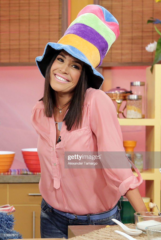 Karla Martinez is seen during Sesame Street's visit of Univision's 'Despierta America' at Univision Headquarters on July 12, 2013 in Miami, Florida.