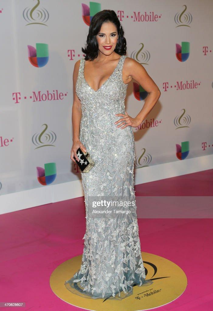 Karla Martínez attends Premio Lo Nuestro a la Musica Latina 2014 at American Airlines Arena on February 20, 2014 in Miami, Florida.