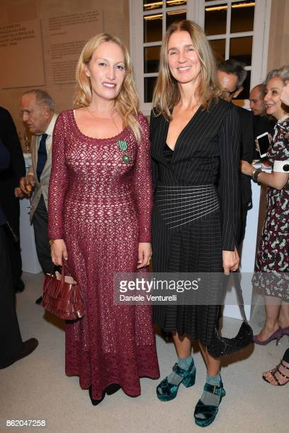 Karla Otto attends a cocktail in honour of Diana Widmaier Picasso and Alexander SC Rower awarded with the Chevalier and Officier de l'Ordre des Arts...