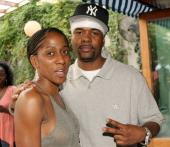 Karla Radford and Memphis Bleek during VIBE Vixen VIP Dinner August 10 2005 at Maritime Hotel in New York City New York United States