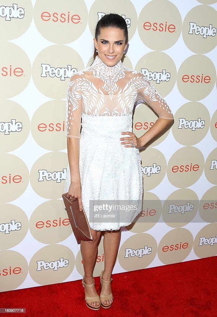 <a gi-track='captionPersonalityLinkClicked' href=/galleries/search?phrase=Karla+Souza&family=editorial&specificpeople=6147755 ng-click='$event.stopPropagation()'>Karla Souza</a> attends the People's One To Watch Event held at Hinoki & The Bird on October 9, 2013 in Los Angeles, California.