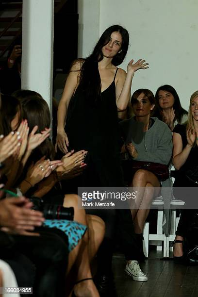 Karla Spetic on the runway at the Karla Spetic show during MercedesBenz Fashion Week Australia Spring/Summer 2013/14 at Carriageworks on April 9 2013...