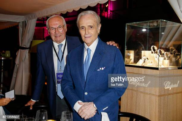 KarlFriedrich Scheufele with Jose Carreras after his concert at Thurn Taxis Castle Festival 2017 on July 23 2017 in Regensburg Germany