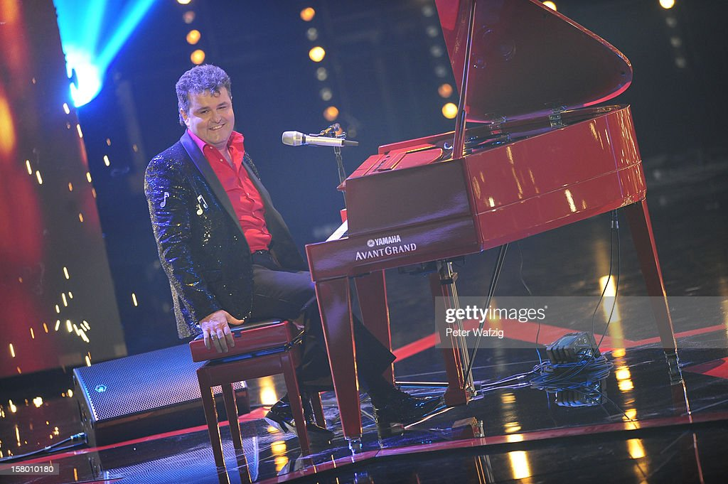 Karlheinz Franz performs during the 'Das Supertalent' Semi Finals on December 08, 2012 in Cologne, Germany.