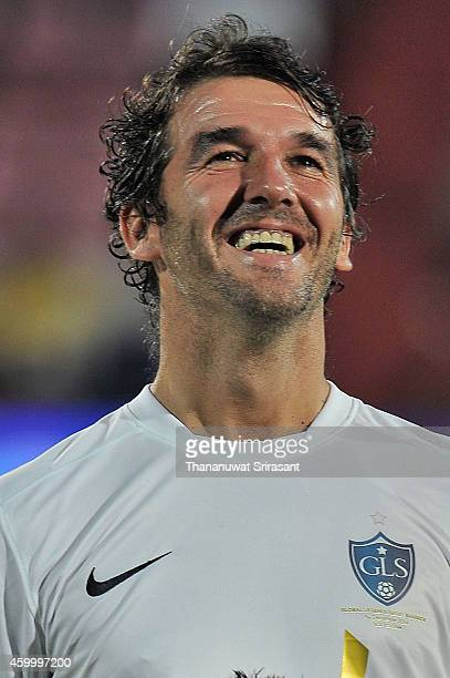 KarlHeinz Riedle of Team Figo poses during the Global Legends Series match at the SCG Stadium on December 5 2014 in Bangkok Thailand