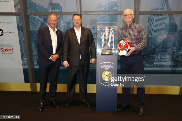 KarlHeinz Rummenigge Executive Board Chairman of Bayern Munich Patrick Murphy CEO Catalyst Media Group and Bruce Buck Chairman of Chelsea FC during...