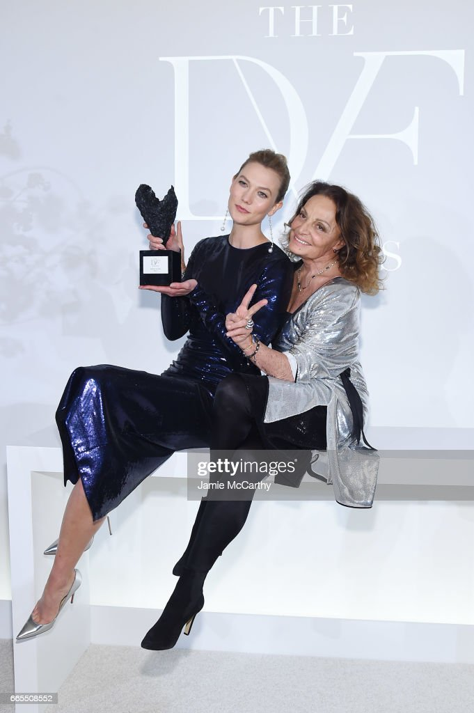 Karlie Kloss and Diane von Furstenberg attend the 2017 DVF Awards at United Nations Headquarters on April 6, 2017 in New York City.