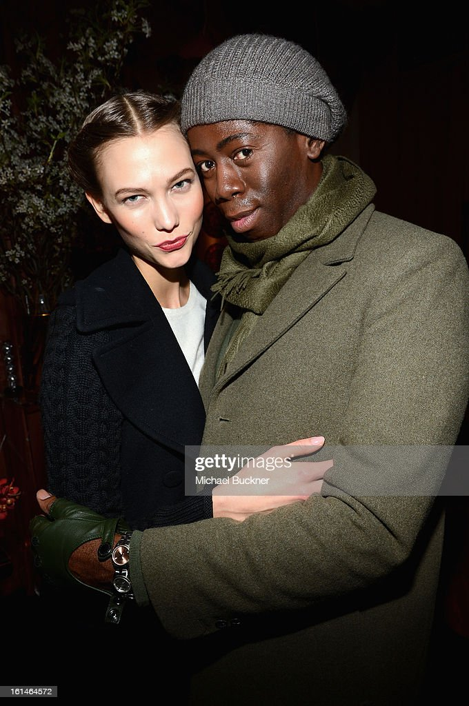 <a gi-track='captionPersonalityLinkClicked' href=/galleries/search?phrase=Karlie+Kloss&family=editorial&specificpeople=5555876 ng-click='$event.stopPropagation()'>Karlie Kloss</a> and <a gi-track='captionPersonalityLinkClicked' href=/galleries/search?phrase=J.+Alexander&family=editorial&specificpeople=698504 ng-click='$event.stopPropagation()'>J. Alexander</a> attend the Mercedes-Benz Star Lounge during Mercedes-Benz Fashion Week Fall 2013 at Lincoln Center on February 11, 2013 in New York City.