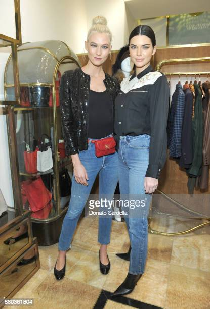 Karlie Kloss and Kendall Jenner at What Goes Around Comes Around Beverly Hills Anniversary on October 11 2017 in Beverly Hills California