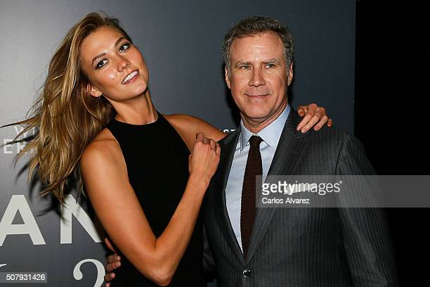 Karlie Kloss and Will Ferrell attend the Madrid Fan Screening of the Paramount Pictures film 'Zoolander No 2' at the Capitol Theater on February 1...