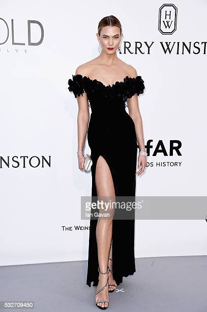 Karlie Kloss arrives at amfAR's 23rd Cinema Against AIDS Gala at Hotel du CapEdenRoc on May 19 2016 in Cap d'Antibes France