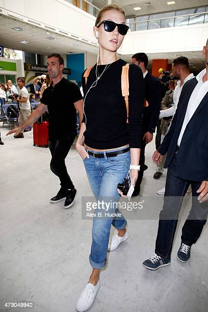 Karlie Kloss arrives at Nice Airport ahead of The 68th Annual Cannes Film Festival on May 12 2015 in Nice France