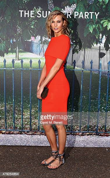 Karlie Kloss arrives at The Serpentine Gallery summer party at The Serpentine Gallery on July 2 2015 in London England