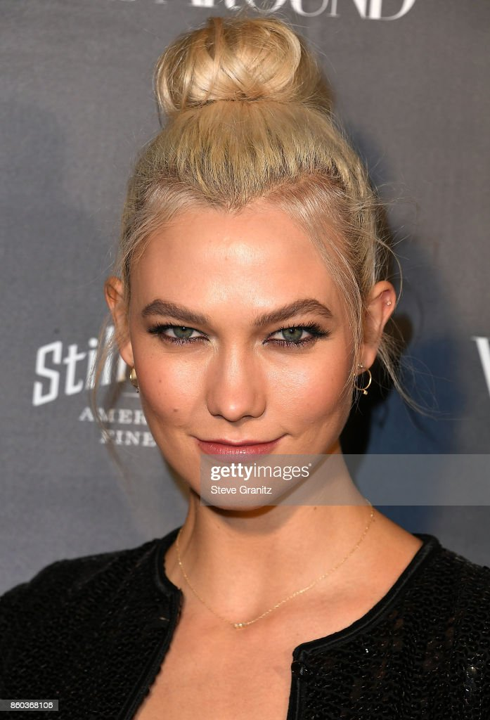 Karlie Kloss arrives at the What Goes Around Comes Around One Year Anniversary at What Goes Around Comes Around on October 11, 2017 in Beverly Hills, California.
