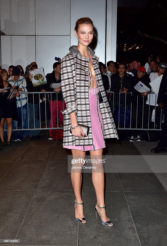 Karlie Kloss arrives to Museum of Modern Art on November 4 2015 in New York City