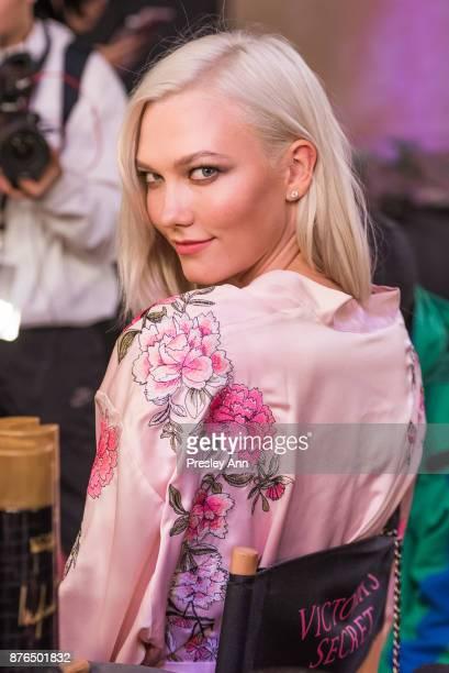 Karlie Kloss attends 2017 Victoria's Secret Fashion Show in Shanghai at MercedesBenz Arena on November 20 2017 in Shanghai China