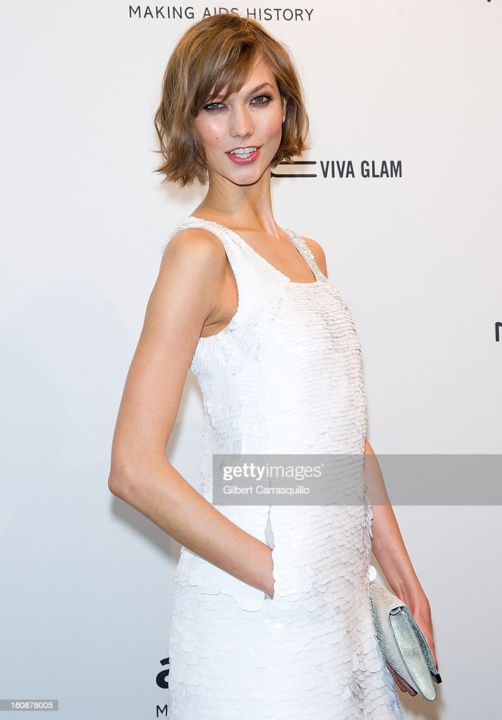 Karlie Kloss attends amfAR New York Gala To Kick Off Fall 2013 Fashion Week at Cipriani, Wall Street on February 6, 2013 in New York City.